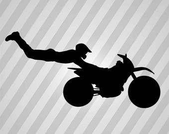 Dirt Bike Silhouette, Dirt Bike Svg, Dirt Bike Eps, Dirt Bike Dxf, Dirt Bike Laser, Dirt Bike Cricut, Dirt Bike Svg File, Dirt Bike Stencil