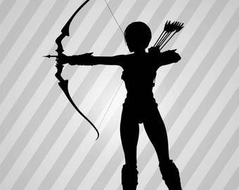 Archer Silhouette - Svg Dxf Eps Rld Rdworks Pdf Png Ai Files Digital Cut Vector File Svg File Cricut Laser Cut