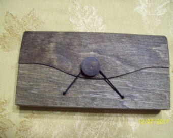 wood clutch purse