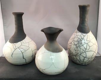 Three Raku Jars