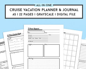 Travel Journal and Cruise Planner | Travel Planner | Vacation Organizer | Cruise Journal | Trip Organizer | Vacation Itinerary