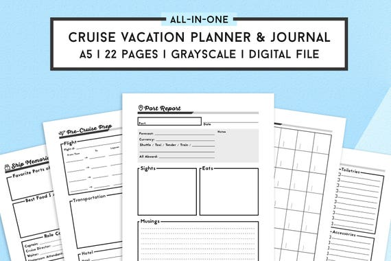 Travel Journal And Cruise Planner Travel Planner Vacation