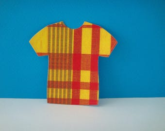 Cut for scrapbooking and card madras baby t-shirt