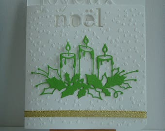"""Merry Christmas"" embossed snow to make you even card Kit"