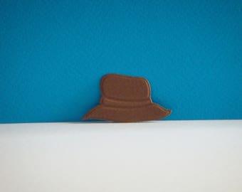 Cut little brown man Hat