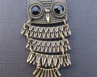 Articulated OWL pendant bronze 4.9 cm * 1