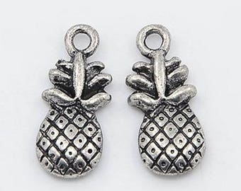 set of 10 charms pendants charms beads pineapple new scrapbooking