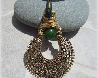 Golden jade pendant