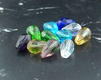 Glass beads drop facet