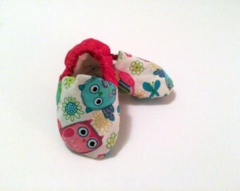 Multi Colored Baby Booties  Soft Soled Baby Shoes - Baby Girl Shoes  Colorful Baby Moccs  Baby Moccasins  Princess Baby Shoes  Baby Slippers