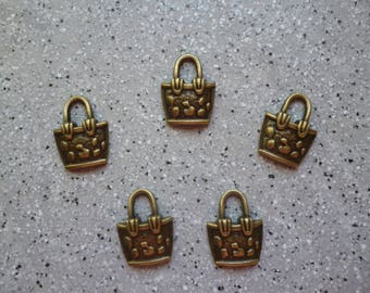5 bags of 20 mm bronze metal charms