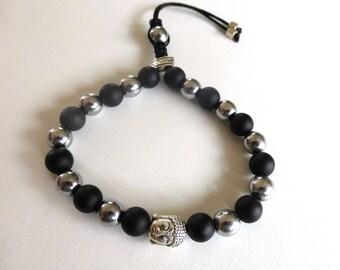 Tibetan bracelet with Buddha, gem stones