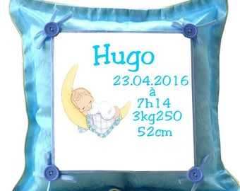 Baby Blue pillow personalized with name