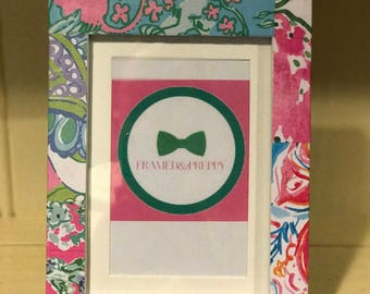 Lilly Pulitzer Inspired Picture Frame 5x7/4x6