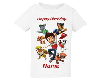 Gift T-Shirt For Toddler paw patrol (2T, 3T, 4T, 5T) Great Quality Fast Shipping