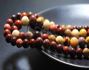 MOUKAITE: 20 natural semi precious 6mm beads