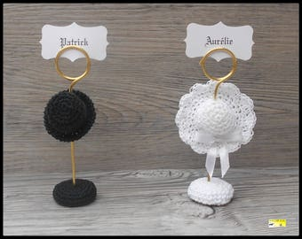"""10 place cards """"hats of groom"""" crochet for: wedding"""
