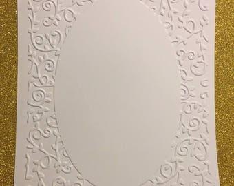 card with embossed embossed vintage scrapbooking frame