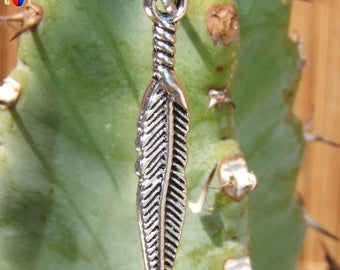 20 charms fine feathers native Americans metal color obsolete money 29 mm x 5 mm