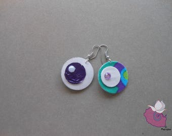07 LEATHERETTE - COLLECTION 5 VIOLET PURPLE EARRINGS