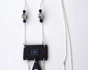 "Slate necklace ""rope"" necklace"