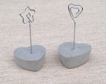 Set of 2 brand room, or photo - nature concrete - heart