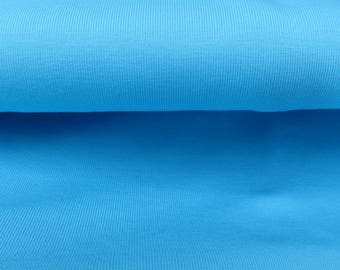 Blue 100% cotton jersey fabric
