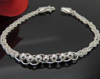 Love eternal 990 silver chain bracelet