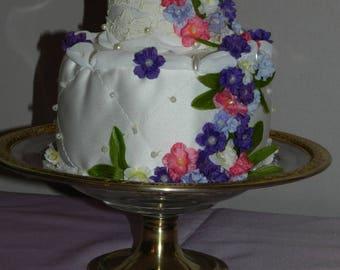 wedding cake floral pillow wedding ring pillow