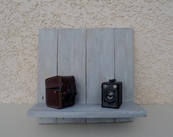 wood look wall shelf