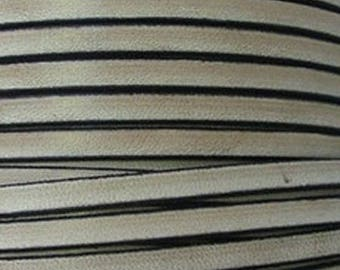20 cm Strip leather taupe vintage 5 mm