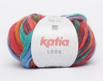 gros fil Laine multico Katia - LOOK - col multicolor n°72
