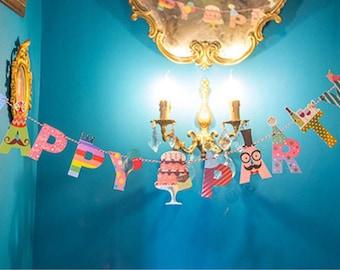Multicolor 2 birthday party Garland