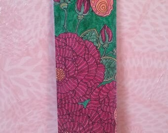 Bookmark - paint these roses in red.