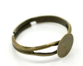set of 2 antique bronze ring holders