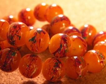 10 trefilee 10 mm glass beads Brown honey - PE206-5