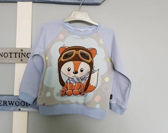 Kids Sweatshirt - model Fox pilot