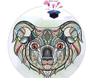 1 cabochon clear 25 mm animals theme