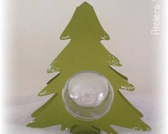 Tree of Christmas 23 cm + ball transparent 8cm