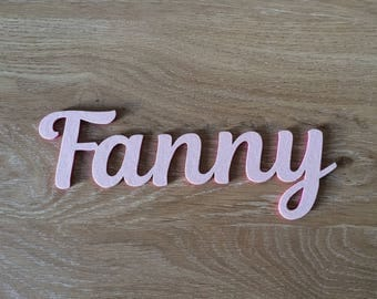 Name - wood letter wooden personalized - cursive - calligraphy - Fanny