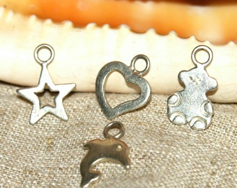 Various pendant in 925 Silver Diam.15 in 20 mm