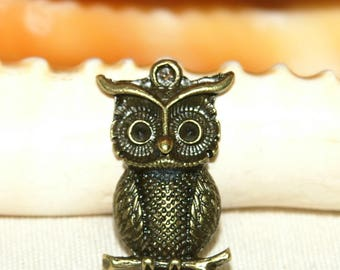 Bronze OWL pendant 40 mm approx