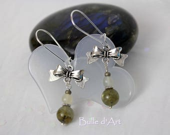 The knots of Labradorite Stud Earrings