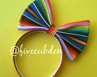 Mexican sarape oversized bow