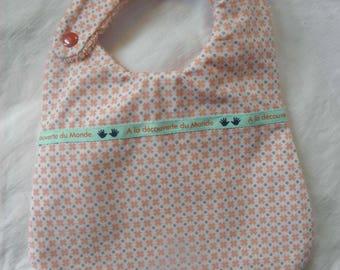 Bavoir tissu géométrique avec croix et pois, éponge pour les bébés de la naissance à 12 mois et plus