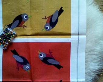 printed tissue pattern finches in limited editions