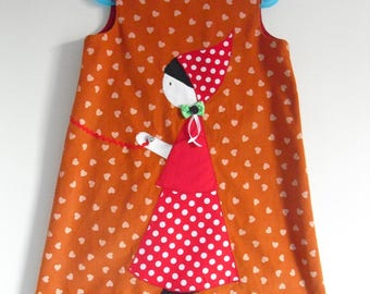 "Pretty winter dress ""little girl and her Butterfly"" T-6 years"
