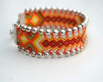 "Friendship bracelet ""Sunlight"" (unique piece) Made in France"