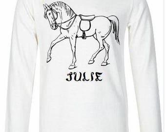 Girl white long sleeve T-shirt