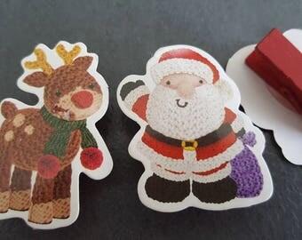 18 clips noel, noel, noel, Santa, reindeer Christmas decoration